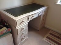Shabby chic desk with drawers