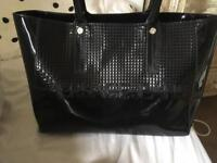 Versace jean black hand bag