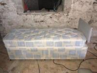 3ft single divan bed and mattress