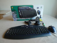 Logitech MX3100 Wireless Keyboard & Mouse - As new
