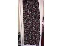 New look wide leg maternity trousers size 12