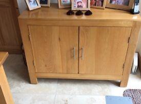 Solid wooden two door dresser