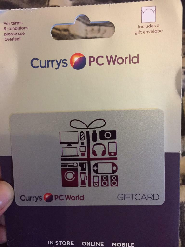 133 currys, pc world gift card | in Northampton, Northamptonshire ...
