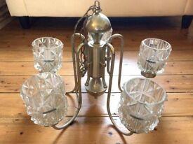 Vintage 5 arm cut glass chandelier