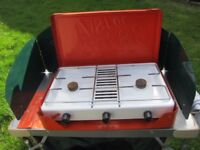 Vintage Veritas Camping Cooker, Clean with Regulator, Instructions & Small Kettle.