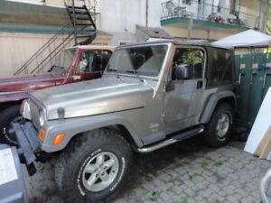 jeep tj 2006 6 vitesses113KM Immaculer pas hivers etaneuf$10,250