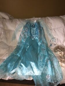 Robe Reine des neiges 9-10 ans