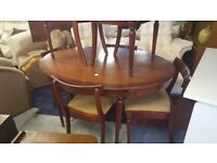 Vintage Extendable Dining Table & 6 Chairs
