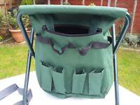Handy garden stool with tool storage too..