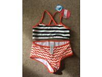 Girls M & S tankini / bikini age 11-12 BNWT