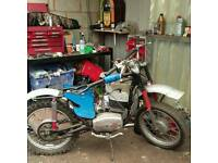 1975 cz 250cc unfinished project with v5 logbook