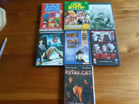 7 VARIOUS FILMS on DVD, RARELY VIEWED