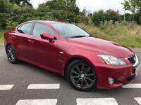 2005 55 LEXUS IS 2.5 250 SE 4D 204 BHP WELL SPEC' CAR, RED METALLIC, GENUINE 109