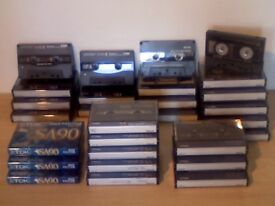 TDK SA C90 x 27 CHROME CASSETTE TAPES, 24 USED ONCE +3 BRAND NEW/SEALED IN THE PRICE Many others av.