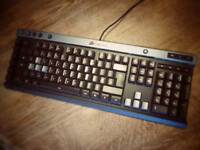 Gaming keyboard, Corsair K30 gaming keyboard, anti ghosting, illuminated