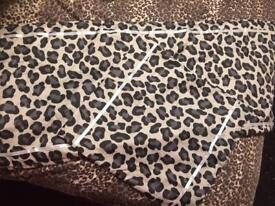 New leopard print bed runner and cushion cover