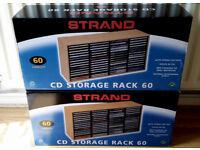 2 x Strand CD Storage Rack. Holds 60 CD's each.