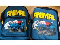 Boys Animal Rucksack & Insulated Lunch Bag. Suit 5 years and under.