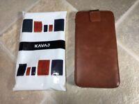 Kavaj Leather Pouch for iPhone 6 Plus, 6S Plus or 7 Plus
