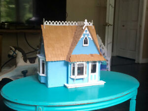 Handmade wooden dolls house