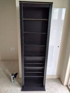 Black DVD / Video Game Shelf