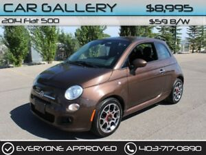 2014 Fiat 500 w/Leather $59B/W QUICK  EASY FINANCING-INSTANT APP