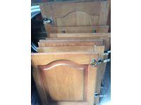 Oak wooden kitchen doors (paintable)