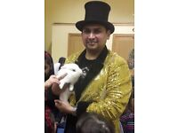 London best wedding, birthday party, corporate show magician to hire for children & Adults.
