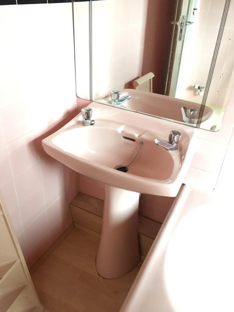 Replacing a retro coloured bathroom suite - Retro Pink Bathroom Suite