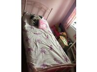 Pink bed frame , single size