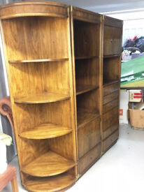 Set of Three High Quality Oak Shelving/ Drawers/Cupboard Units.