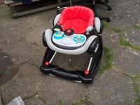 MyChild Chevro Baby Walker black-grey-red used £18