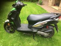 SYM JET 4 50cc 2012 great little scooter with new MOT