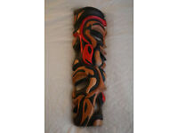 Large Totemic Tribal Mask with carved faces and fish, origin unknown £10