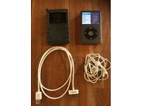 iPod Classic 120 Gb 7th Gen, black, vgc inc 30 pin docking cable, silicon case and headphones
