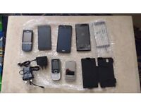 6 Assorted mobile phones - spares/working