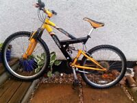 Mountain Bike Barracuda Nitro boys youths gents bike 26 inch wheels, front suspension, quick sale