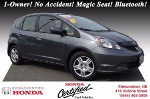 2013 Honda Fit LX 1-Owner! No Accident! Hatchback! 60/40 Split-f