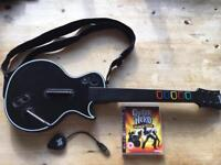PS3 Guitar Hero- wireless guitar & world tour disc