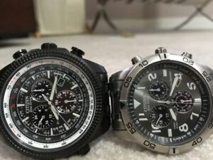 Men's Citizen Eco Drive Watches. $250 Each OBO. Solar powered Ne