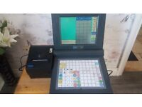 till system. cash drawer and printer