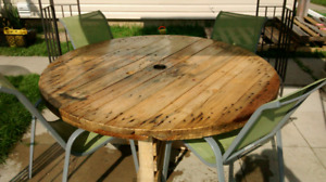 Custom made round patio tables