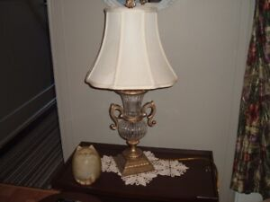 Large and heavy CRYSTAL table lamps (2)
