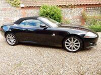 Fabulous black convertible Jaguar