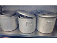 Catering Pans 33cm and 26cm and large Oven Trays