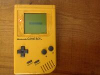 Nintendo gameboy rare collectable console retro yellow