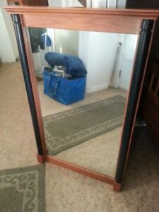 Wall mirror solid red maple