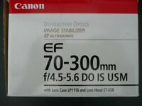 Canon EF 70-300mm f4.0-5.6 DO IS USM Lens (Diffractive Optics)