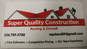 Roofing, skylights  and drywall