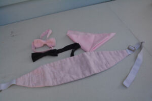 Kids Cumberbun & Bow Ties for young child PINK $2 for all